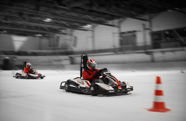 Kartbahn Adelberg Wintersaison IceDrifting E-Karts fahren